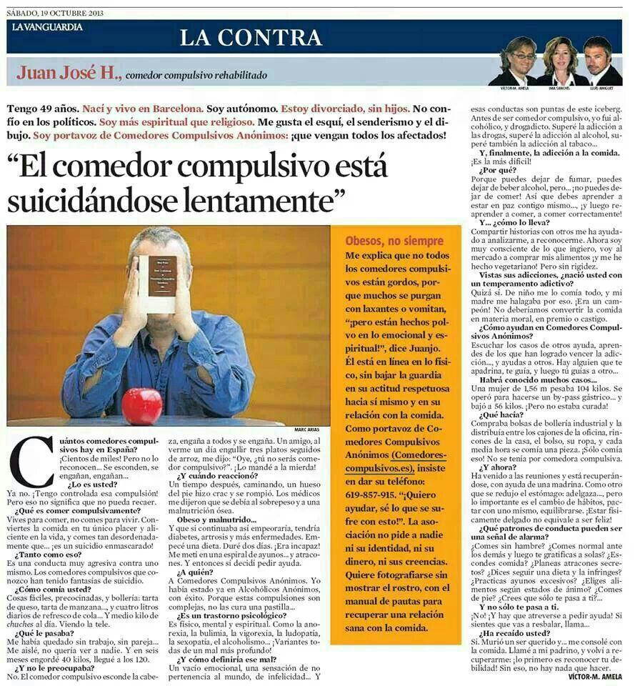Artículo de la Vanguardia 19-10-2013 - OA Juan Jose