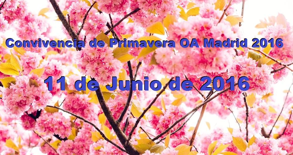 Convivencia de Primavera OA Madrid - 11 de Junio de 2016