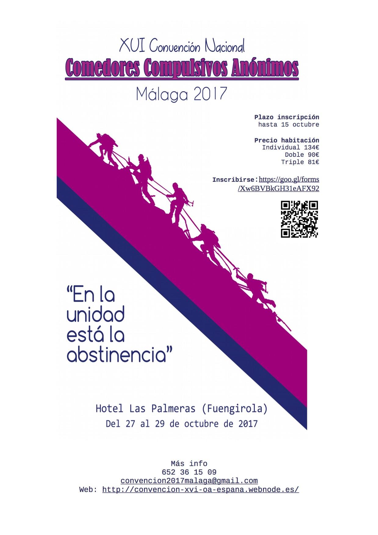 Abierto el plazo de inscripción Convención Málaga octubre 2017 ...