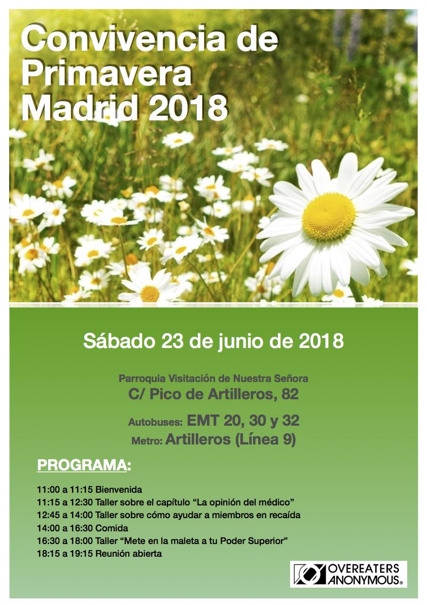 Convivencia de primavera en Madrid | Comedores Compulsivos Anónimos ...